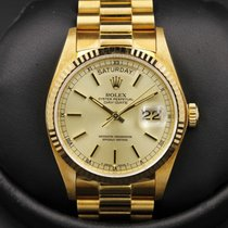 Rolex Day-Date - 18038 - Yellow Gold - Champagne Dial -...