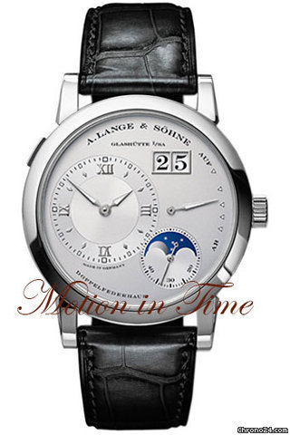 A. Lange &amp;amp; Shne LANGE 1 MOONPHASE PLATINUM - RHODIUM DIAL