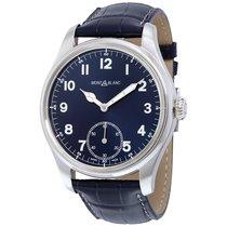 Montblanc 1858 Blue Dial Blue Leather Men's Watch