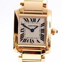 Cartier Tank Francaise 18K Gold Lady's