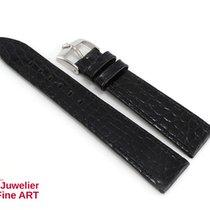 Rolex schwarzes Lederband mit Edelstahl Dornschließe - Anstoß...