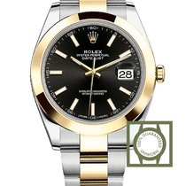 Rolex Oyster Perpetual Datejust 41 gold/steel black dial NEW...