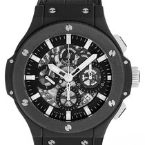 Hublot Black Magic Big Bang Aero Bang Skeleton Dial Mens Watch...