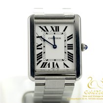 Cartier Tank Solo Steel Large Model Quartz Watch 34x27mm