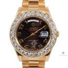 Rolex Day-Date II Yellow Gold Black Wave Arabic Dial Diamond...