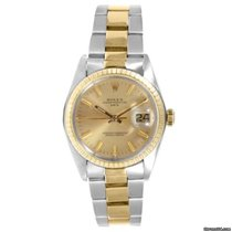 Rolex 18K/SS Date - Champagne Stick Marker Dial- Oyster Band...