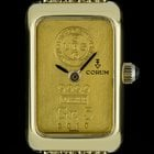 Corum 18k Yellow Gold 5 Grams 999.9 Quartz Ingot Ladies...
