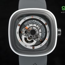 Sevenfriday P3/03 Deep Grey Pvd With White Rubber Ring 47mm