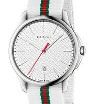 Gucci G-Timeless Quarz Large Slim White Dial YA126322 R