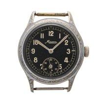 """Minerva """"DH"""" antique military wrist watch"""