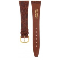 Genuine Leather Swiss Genuine Crocodile Brown Strap 20mm