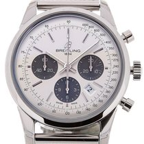 Breitling Transocean 43 Chronograph Silver Dial Cal. B01