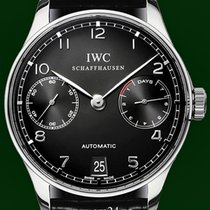 IWC Portuguese Automatic 42mm 7 Days 2014 Black Dial B&P