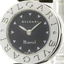 Bulgari Polished  B-zero1 Steel Leather Quartz Ladies Watch...