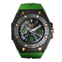 Linde Werdelin Oktopus Double Date Carbon - Green