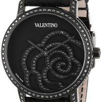 Valentino Rose Black PVD Steel Womens Watch Black Diamonds...