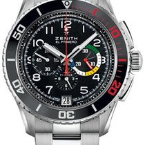 Zenith Heritage Icons Stratos Flyback Rainbow 45mm Watch with...