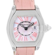 Cartier Roadster Mop Dial Pink Roman Numerals Limited Watch...