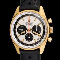 Zenith Vintage El Primero 18 kt gold G381 panda dial mint