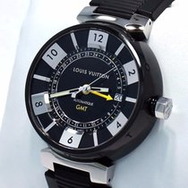 Louis Vuitton Tambour Q113k In Black Gmt Pvd Rubber 41mm Auto...
