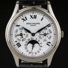 Patek Philippe 18k W/G White Dial Perpetual Calendar B&P...