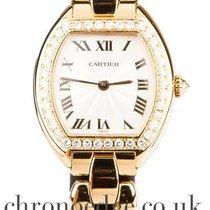 Cartier Yellow Gold Diamond WA5027P4 1945 Tonneau 1910