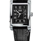 Oris Rectangular Date, Black Dial Leather Bracelet