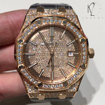 Audemars Piguet Royal Oak Self-Winding Pavé Diamond in Rose Gold