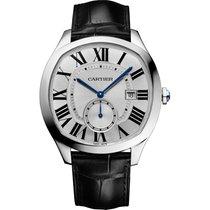 Cartier Drive de Cartier 40mm Steel Watch on Leather Strap