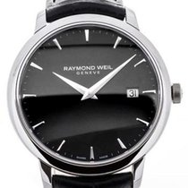 Raymond Weil Toccata 39 Black Leather Strap Black Dial
