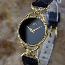 Gucci Swiss Made 23mm Ladies Luxury Gold Plated Quartz Dress...