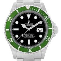 Rolex Submariner Green 50th Anniversary Steel Mens Watch 16610lv