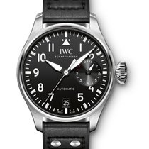 IWC IW500912 Big Pilot Mens Automatic in Steel - On Black...