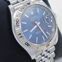 Rolex Datejust 116264 Turn-o-graph Blue Dial 18k White Gold...