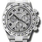 Rolex DAYTONA WHITE GOLD ON BRACELET FULL DIAMOND PAVE ...