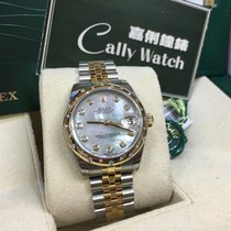 Rolex Cally - 178343 31mm Datejust Gold Steel Mother of Pearl Dia