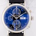 IWC Portofino Chronograph Stahl black Dial Klassiker Top...