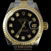 Rolex DateJust 79173 Lady 18k Gold Steel 2003 Diamonds