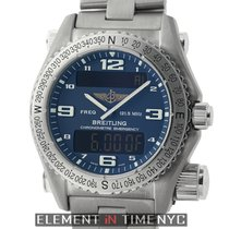 Breitling Emergency SuperQuartz Titanium 43mm Blue Dial 2009...