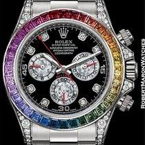 Rolex 116599rbow Rainbow Daytona Baguette Diamonds &...