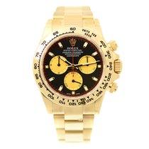 Rolex Cosmograph Daytona 18 K Yellow Gold Black Automatic...