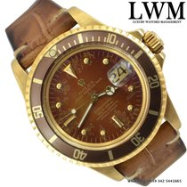 Rolex Submariner 1680/8 Tropical brown dial yellow gold Full Set