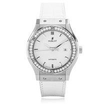 Hublot Classic Fusion Titanium Diamond Manual Ladies Watch