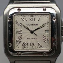Cartier Santos Galbee 2319 Steel Saphire Glass 29mm