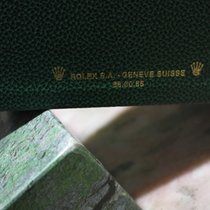 Rolex vintage watch box ref.68.00.55 green leather with outer...