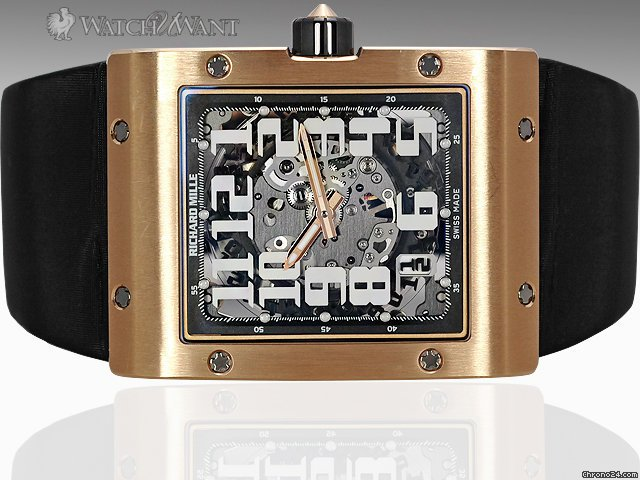 Richard Mille RM 016 Extra Flat - 18K Rose Gold Case - Automatic Movt &amp;amp; Big Date - RM016 AH RG - Better Than 50% Discount Off Retail List Price - Boxes/Papers 100% Complete &amp;amp; As-New