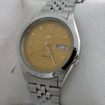 Seiko N.O.S. Automatic 5, day/date steel, rare dial