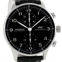 IWC Portuguese Chrono Automatic Steel Mens Watch Iw371438