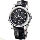 Ulysse Nardin GMT Perpetual 18K White Gold Black Dial Men`s Watch