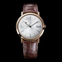 Piaget [NEW] Altiplano Mechanical Silver Dial Brown Leather...